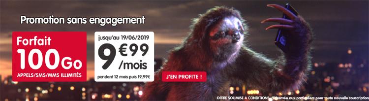 NRJ Mobile : son forfait illimité Woot 100 Go est à 9.99 € par mois