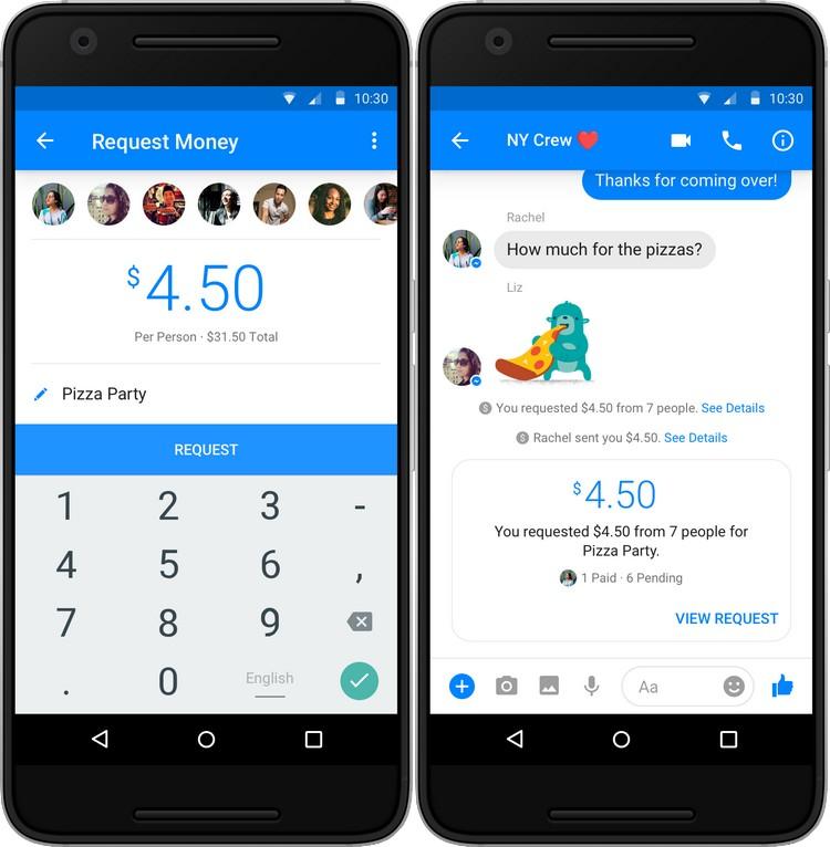 Messenger : les transferts d'argent rejoignent les conversations de groupe