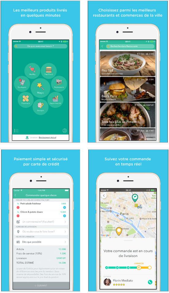 Glovo, une application qui livre les parisiens en 30 minutes