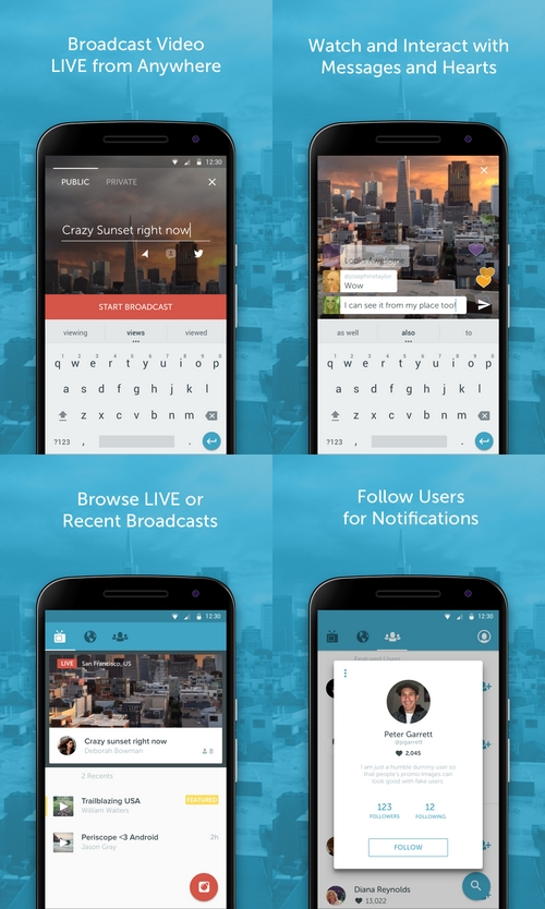 Twitter lance une version Android pour Periscope