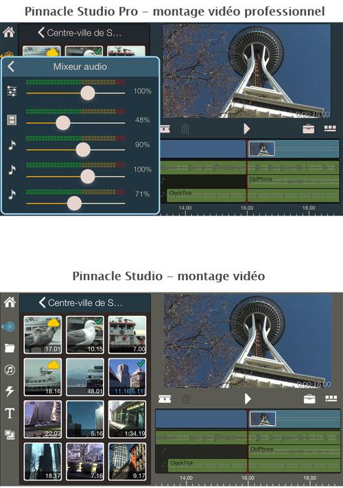 Pinnacle Studio arrive sur iOS avec deux applications