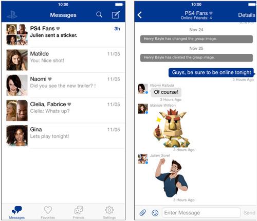 PlayStation Messages : la messagerie de Sony débarque sur iOS et Android