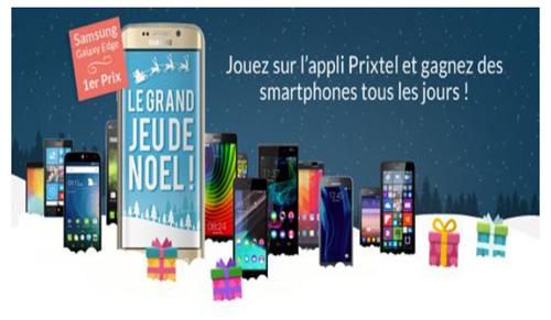 Prixtel fait gagner un smartphone par jour via son application