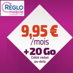 Réglo Mobile lance une nouvelle offre avec 20 Go d'Internet mobile à 9,95 €