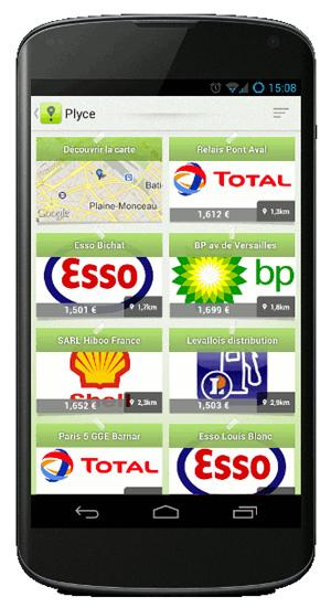 Repérez sur votre mobile les stations service les moins chères sur votre trajet