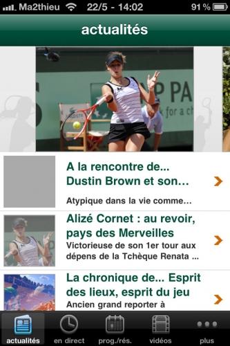 Roland Garros 2011 : Orange lance une application iPhone pour ne rien rater de cet événement