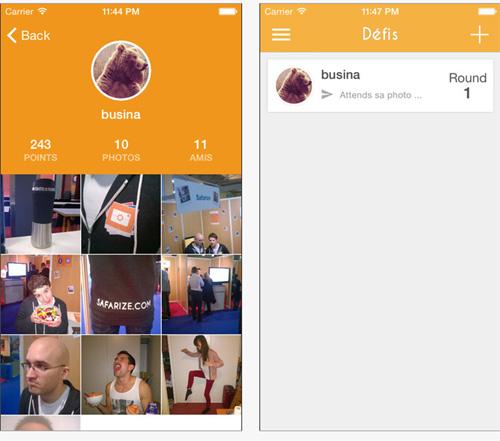 Safarize : une application de défis photo entre amis