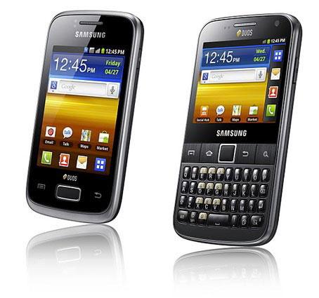 Samsung annonce deux nouveaux smartphones sous Android OS, les Galaxy Y Duos et Y Pro Duos