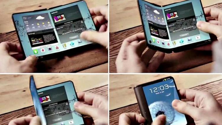 Le premier écran extensible présenté aujourd'hui par Samsung