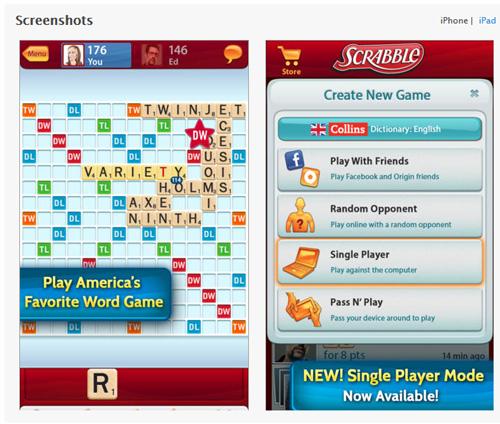 Scrabble ajoute un mode Solo disponible gratuitement