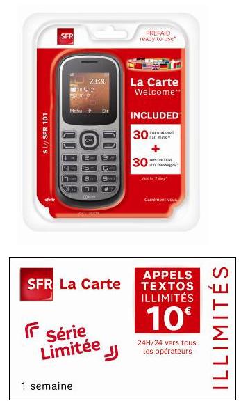SFR étoffe son offre prépayée, SFR La Carte