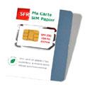 SFR lance une carte SIM en papier