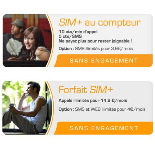 """SIM+ lance sa nouvelle offre mobile """"appels illimités"""""""