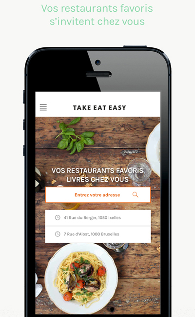 Take Eat Easy lance son application mobile en France