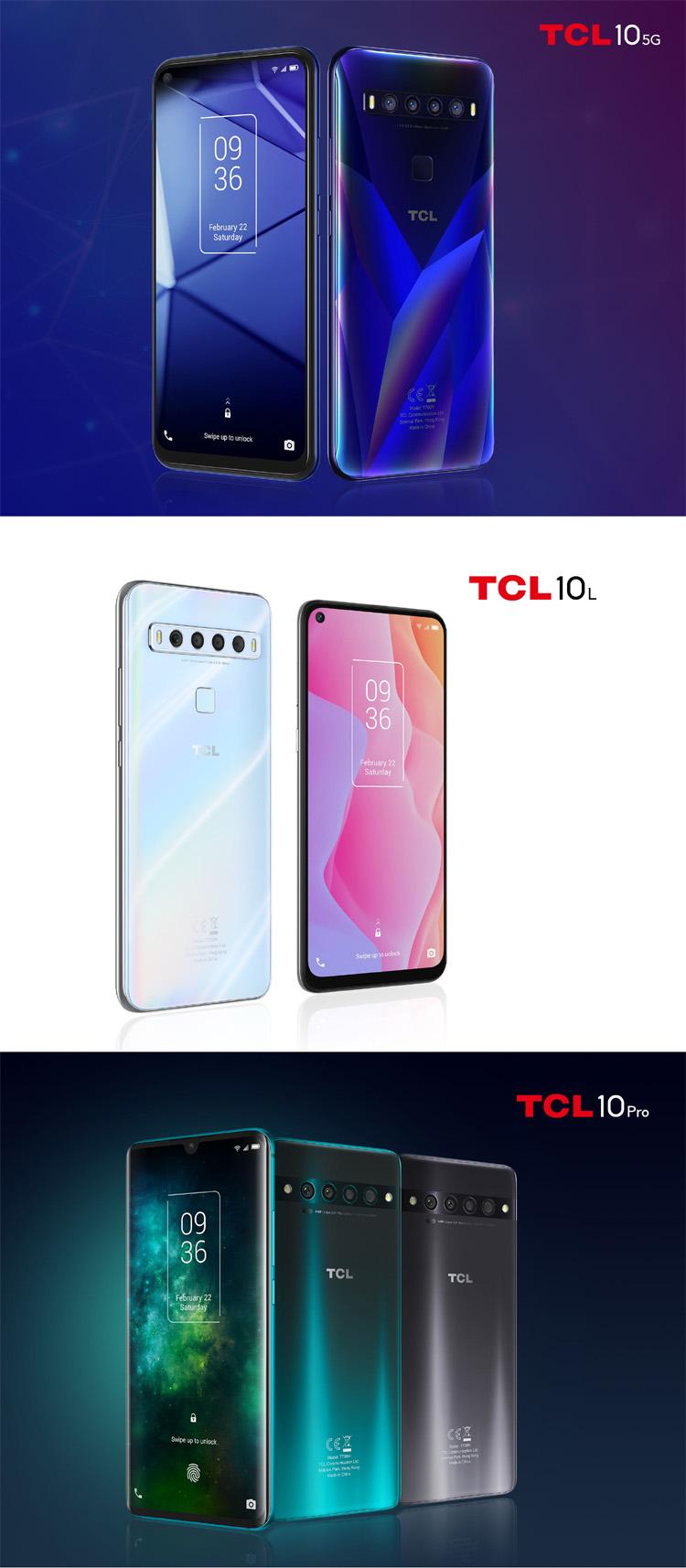 TCL Communication dévoile sa nouvelle gamme de smartphones dont un premier téléphone 5G