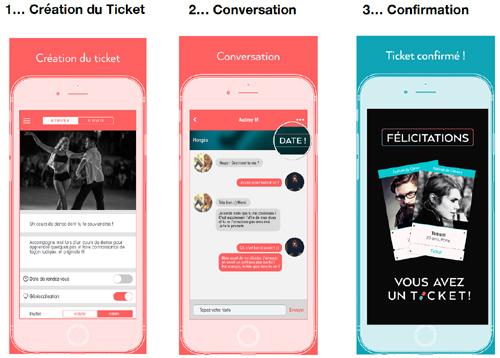 Ticket, une application  gratuite qui veut révolutionner les modes de rencontres