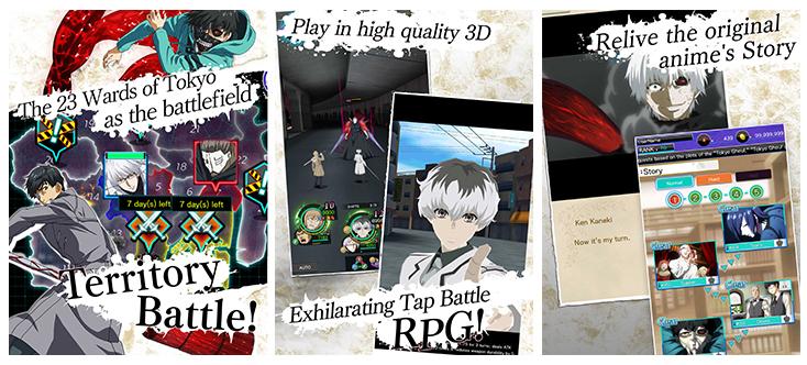 Tokyo Ghoul débarque sur l'App Store et Google Play