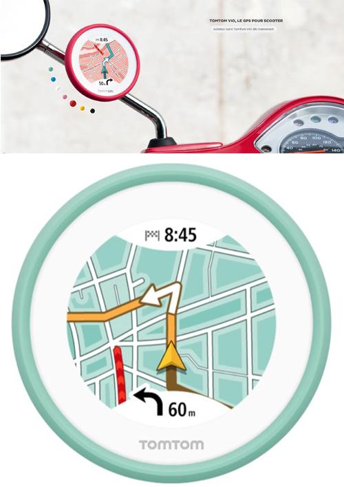 TomTom VIO, un GPS dédié aux scooters