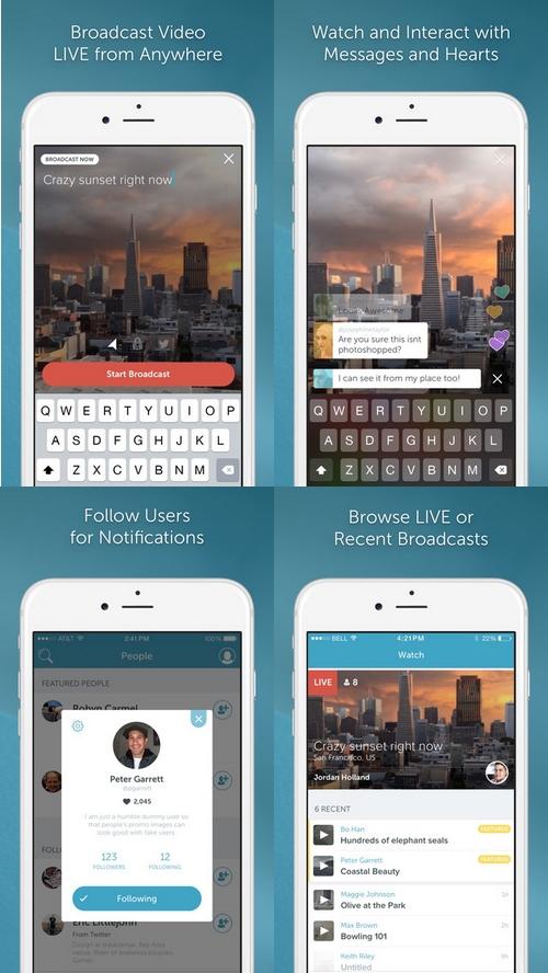 Twitter a lancé Periscope une application de live stream