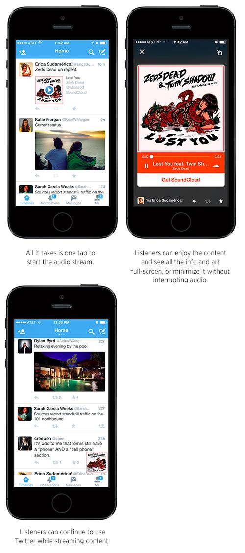 Twitter s'allie à SoundCloud et propose Audio Card