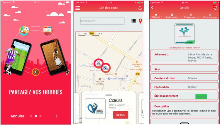 U Club, une application qui permet de créer des  clubs de passionnés
