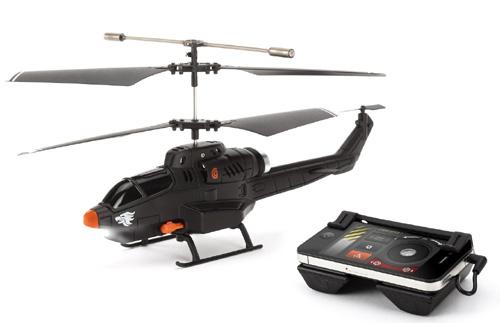 Un hélicoptère avec missiles à télécommander via l'iPhone