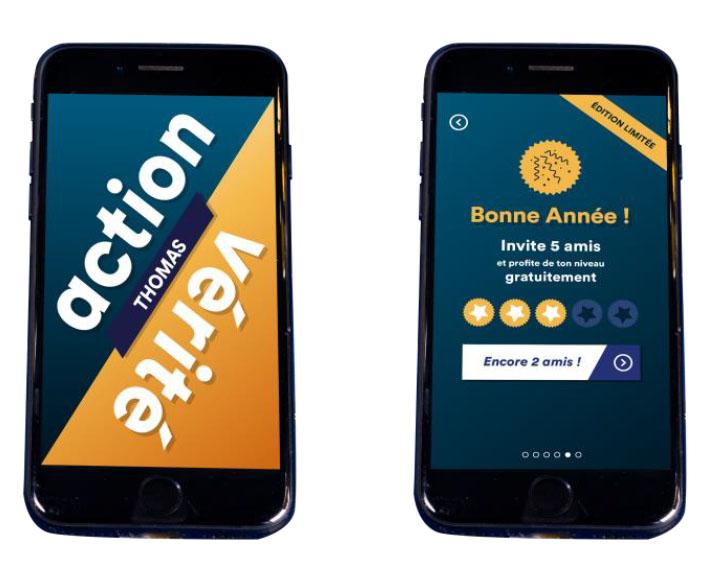 """Une application """"Action ou Vérité""""  créée pour le Réveillon 2017"""