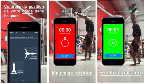 Une application de sport pour contrôler la position de son corps dans l'espace