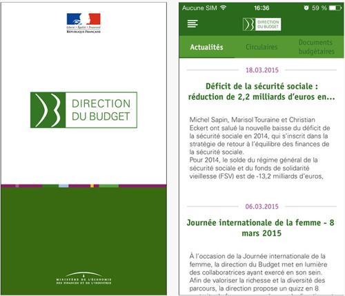 Budgetek, l'appli mobile des documents budgétaires