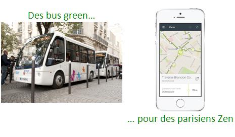 Une application ZenBus localise les bus de la Traverse Brancion-Commerce à Paris