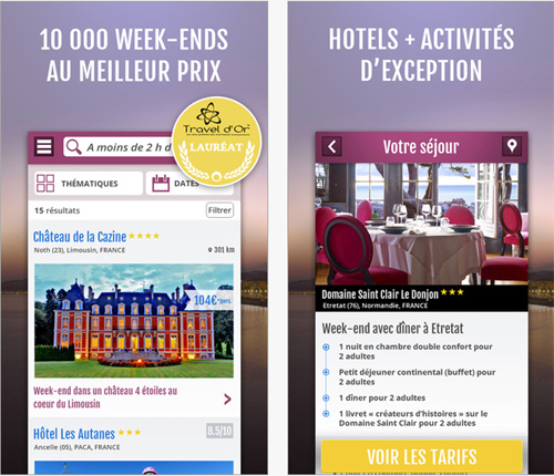 Weekendesk lance son application mobile