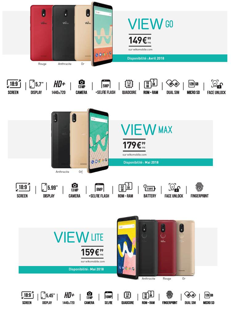 """Wiko va compléter sa collection """"View"""" avec trois nouveaux modèles en mai"""