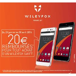 Wileyfox  rembourse 20 euros pour l'achat d'un Swift