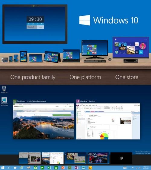 Windows 10 : la version preview est téléchargeable