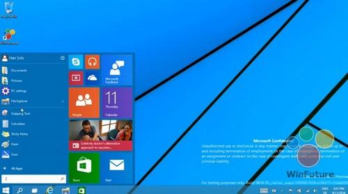 Windows 9 :  le  menu Démarrer est de retour