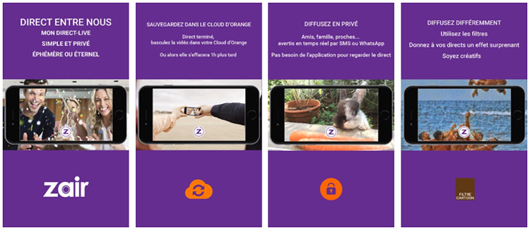 Zair by Plussh : une application de vidéo en direct pour les clients Orange