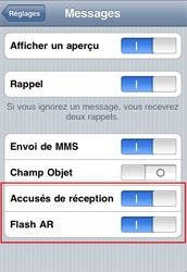 L'accusé de reception pour les SMS est disponible sur les iPhone jailbreakés