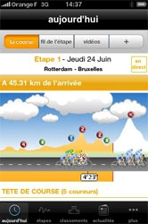 Une application pour les amateurs du Tour de France