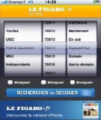 Figaroscope : un logiciel iPhone pour trouver des adresses utiles à Paris